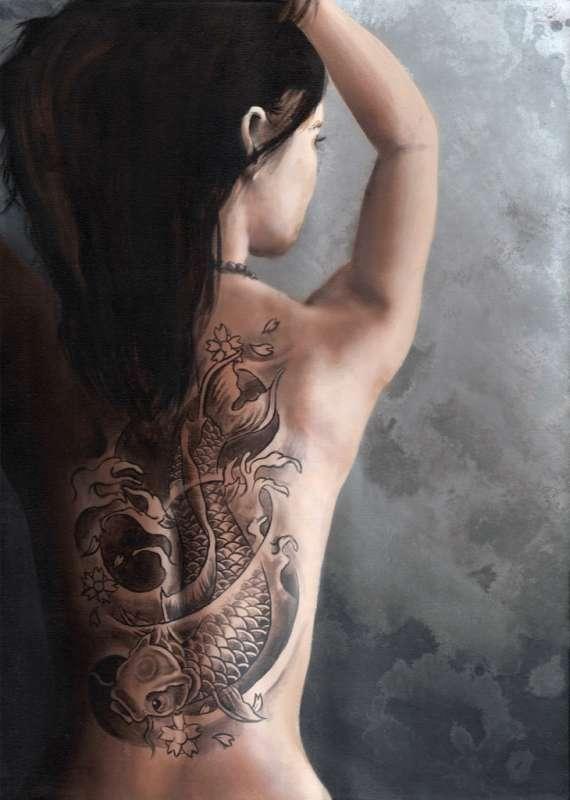 идеи тату на женскую спину