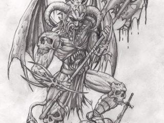 Эскизы татуировки Демона для мужчин