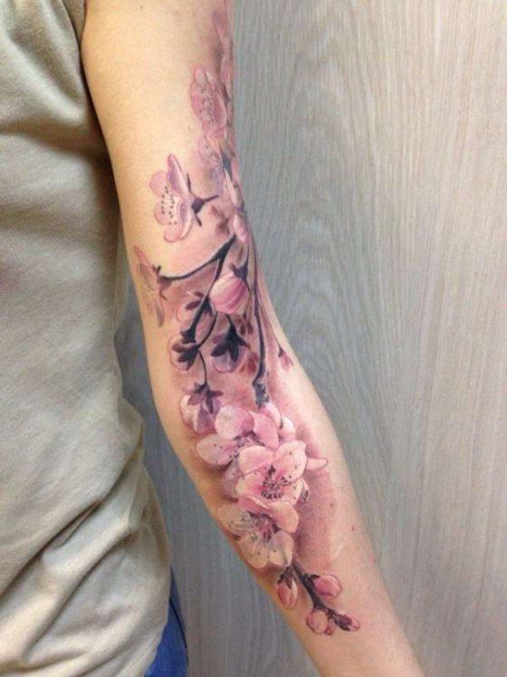 Вишня в форме сердца - идеи нежных тату для девушек